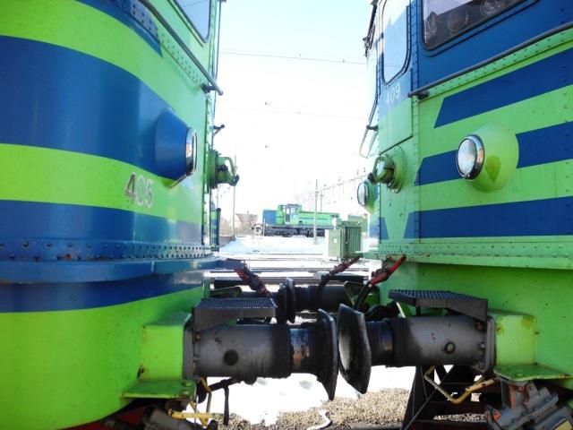 Ma 405 stångas mot Ma 409 och V11 712 står på rangervallen