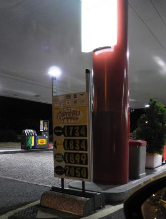 Inga häftiga bränslen, men priset var häftigt!